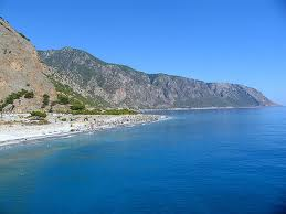Agia roumeli in Chania region with beautiful beach
