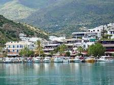 Agia Galini port village south of Rethymnon in Crete of Greece